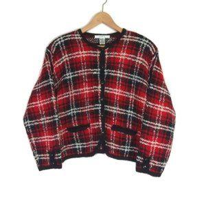 Sale! Vintage Plaid Button Up Wool Blend Jacket